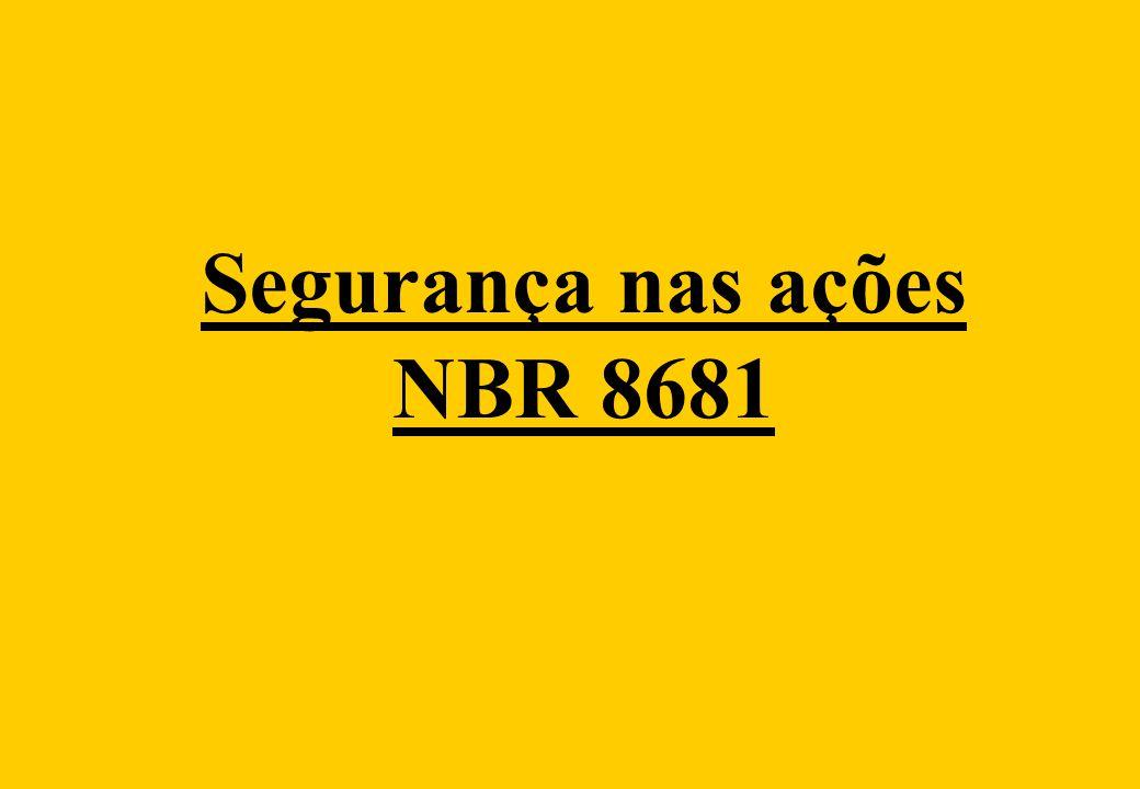 Segurança nas ações NBR 8681