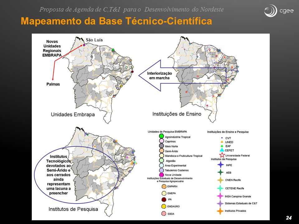 Mapeamento da Base Técnico-Científica
