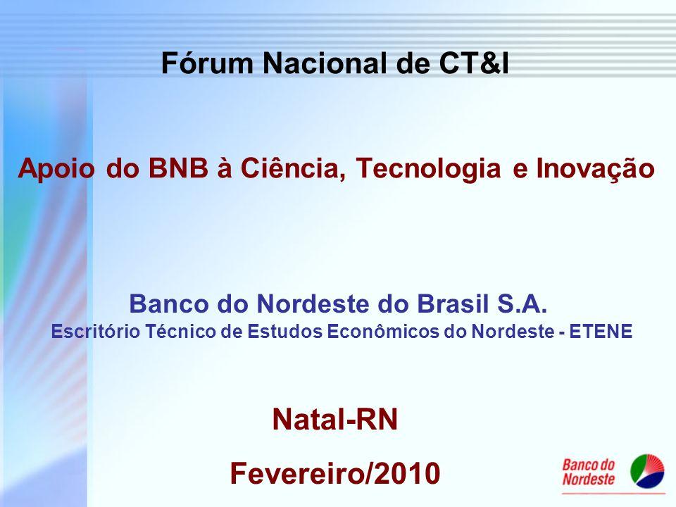 Apoio do BNB à Ciência, Tecnologia e Inovação
