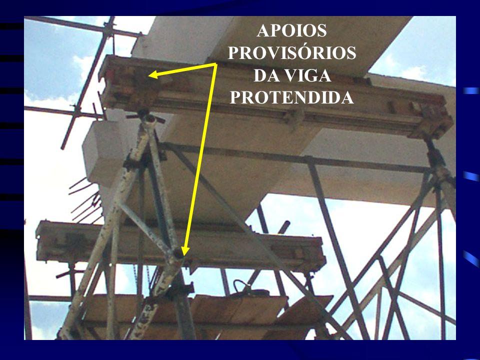 APOIOS PROVISÓRIOSDA VIGA PROTENDIDA