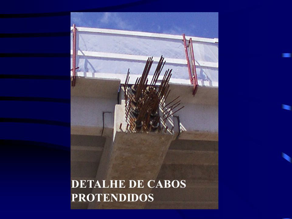 DETALHE DE CABOS PROTENDIDOS