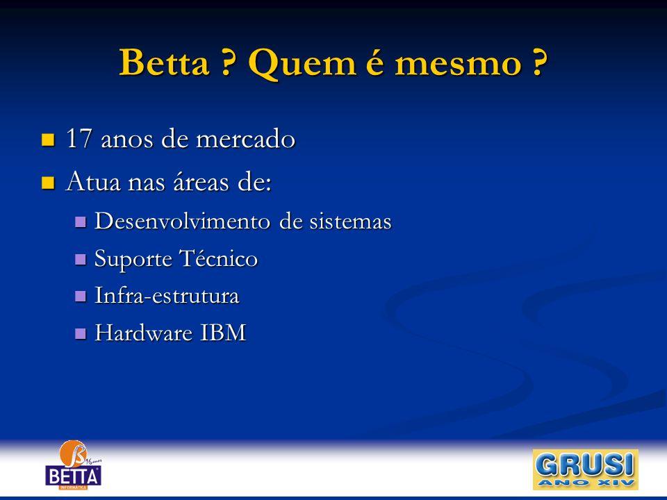 Betta Quem é mesmo 17 anos de mercado Atua nas áreas de: