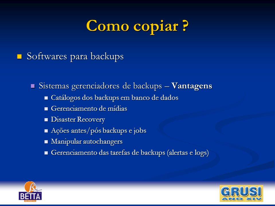 Como copiar Softwares para backups
