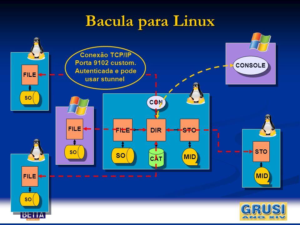 Bacula para Linux Conexão TCP/IP Porta 9102 custom. Autenticada e pode