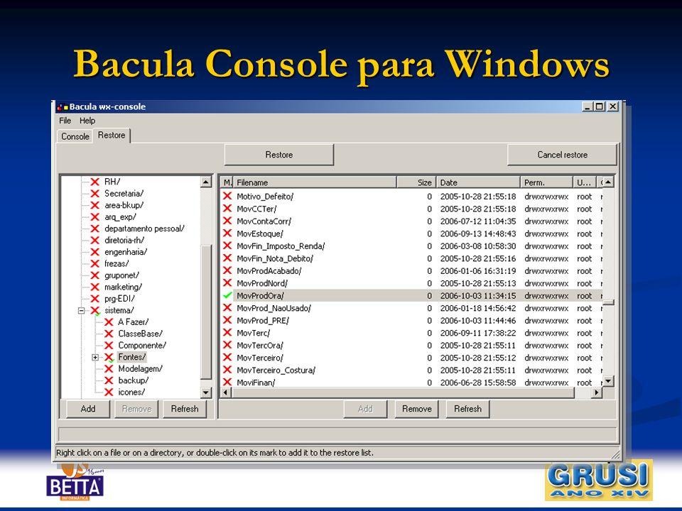 Bacula Console para Windows