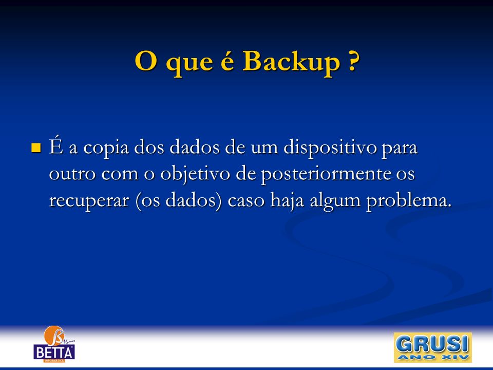 O que é Backup .