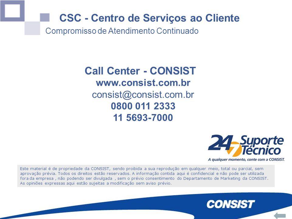 0800 011 23 33 CSC - Centro de Serviços ao Cliente