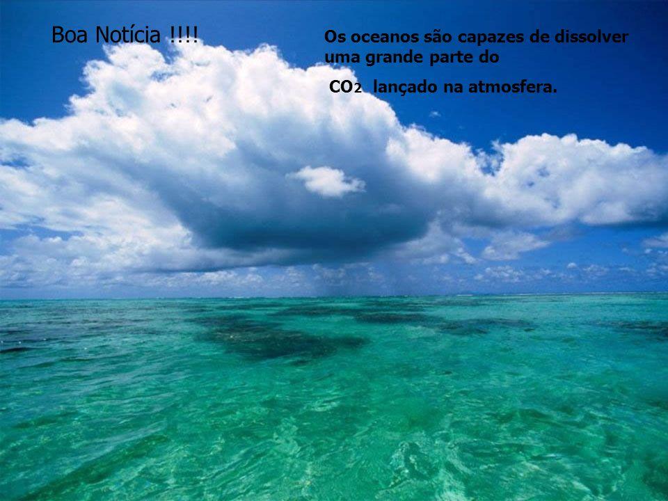 Boa Notícia !!!. Os oceanos são capazes de dissolver uma grande parte do.