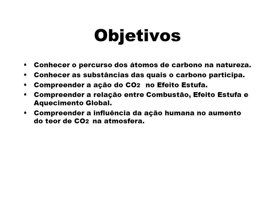 Objetivos Conhecer o percurso dos átomos de carbono na natureza.