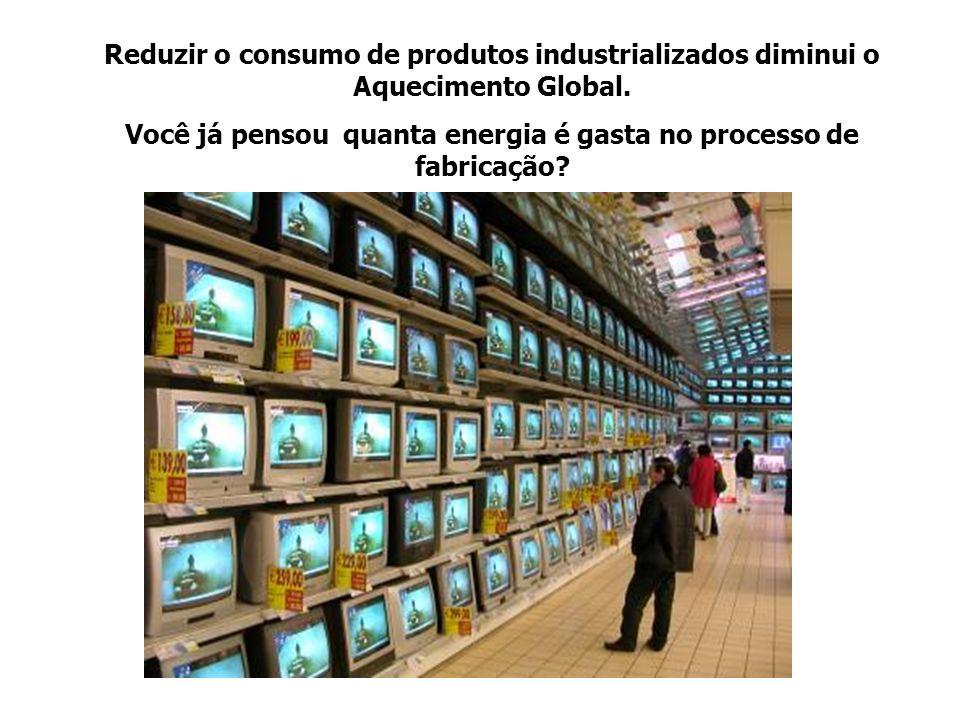 Você já pensou quanta energia é gasta no processo de fabricação