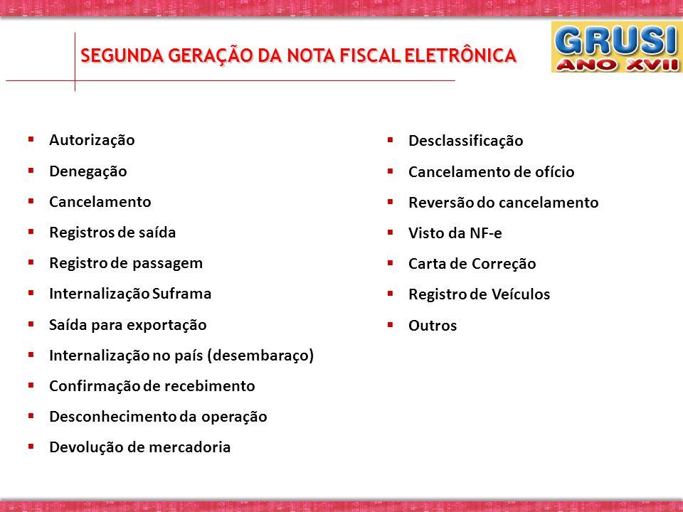 SEGUNDA GERAÇÃO DA NOTA FISCAL ELETRÔNICA