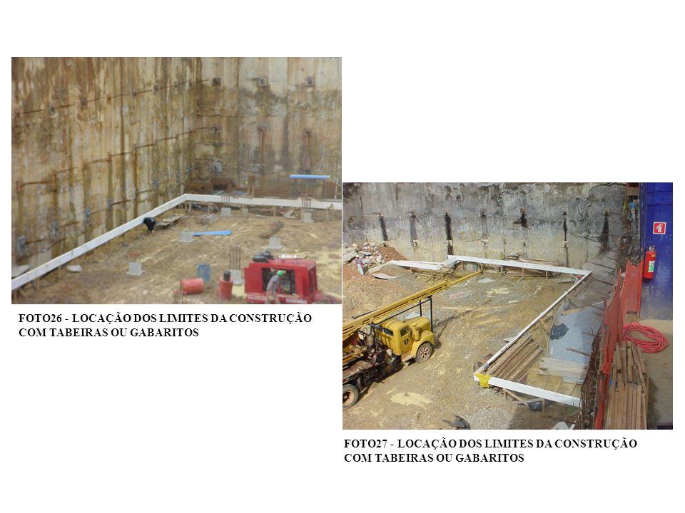 FOTO26 - LOCAÇÃO DOS LIMITES DA CONSTRUÇÃO COM TABEIRAS OU GABARITOS