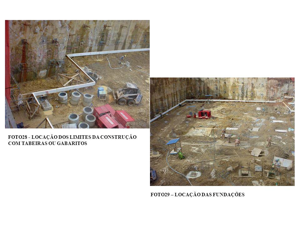 FOTO28 - LOCAÇÃO DOS LIMITES DA CONSTRUÇÃO COM TABEIRAS OU GABARITOS
