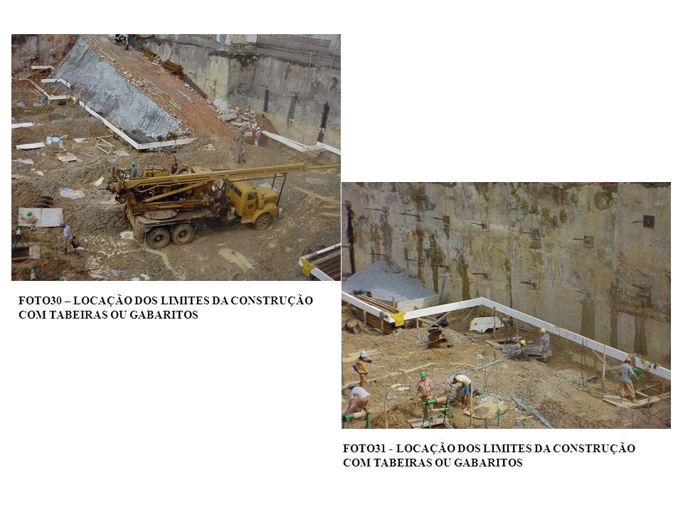 FOTO30 – LOCAÇÃO DOS LIMITES DA CONSTRUÇÃO COM TABEIRAS OU GABARITOS