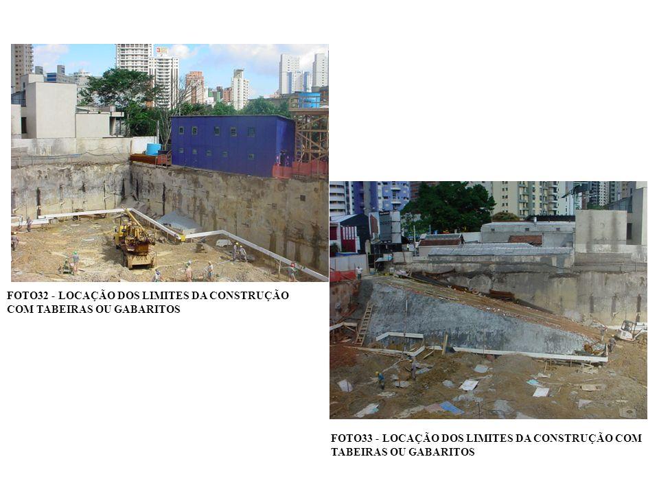 FOTO32 - LOCAÇÃO DOS LIMITES DA CONSTRUÇÃO COM TABEIRAS OU GABARITOS