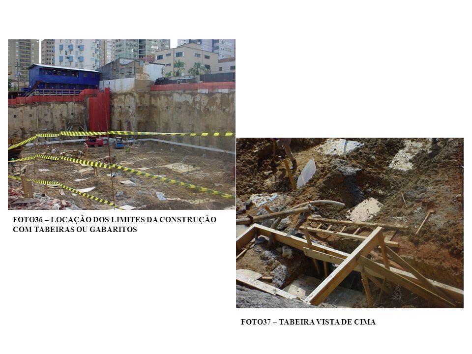 FOTO36 – LOCAÇÃO DOS LIMITES DA CONSTRUÇÃO COM TABEIRAS OU GABARITOS