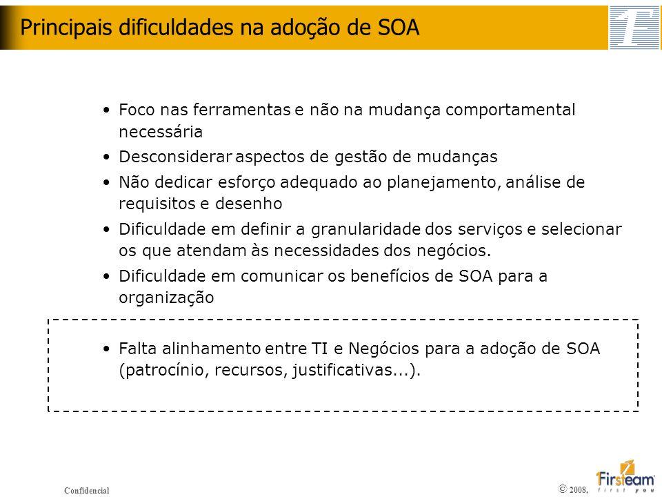 Principais dificuldades na adoção de SOA