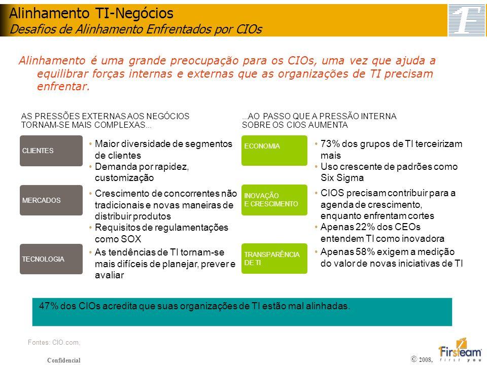 Alinhamento TI-Negócios Desafios de Alinhamento Enfrentados por CIOs