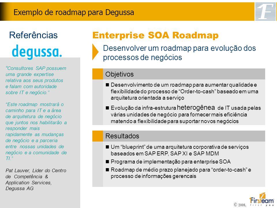 Exemplo de roadmap para Degussa