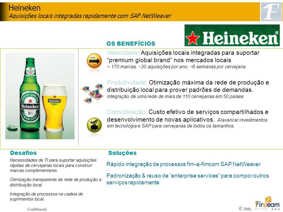 Heineken Aquisições locais integradas rapidamente com SAP NetWeaver