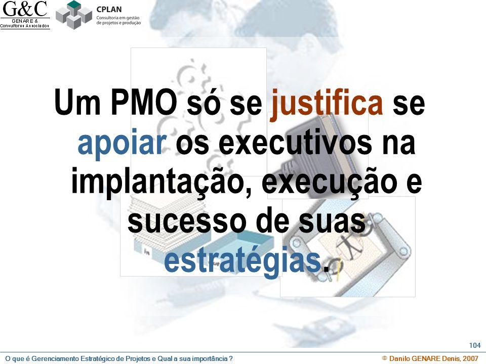 Um PMO só se justifica se apoiar os executivos na implantação, execução e sucesso de suas estratégias.