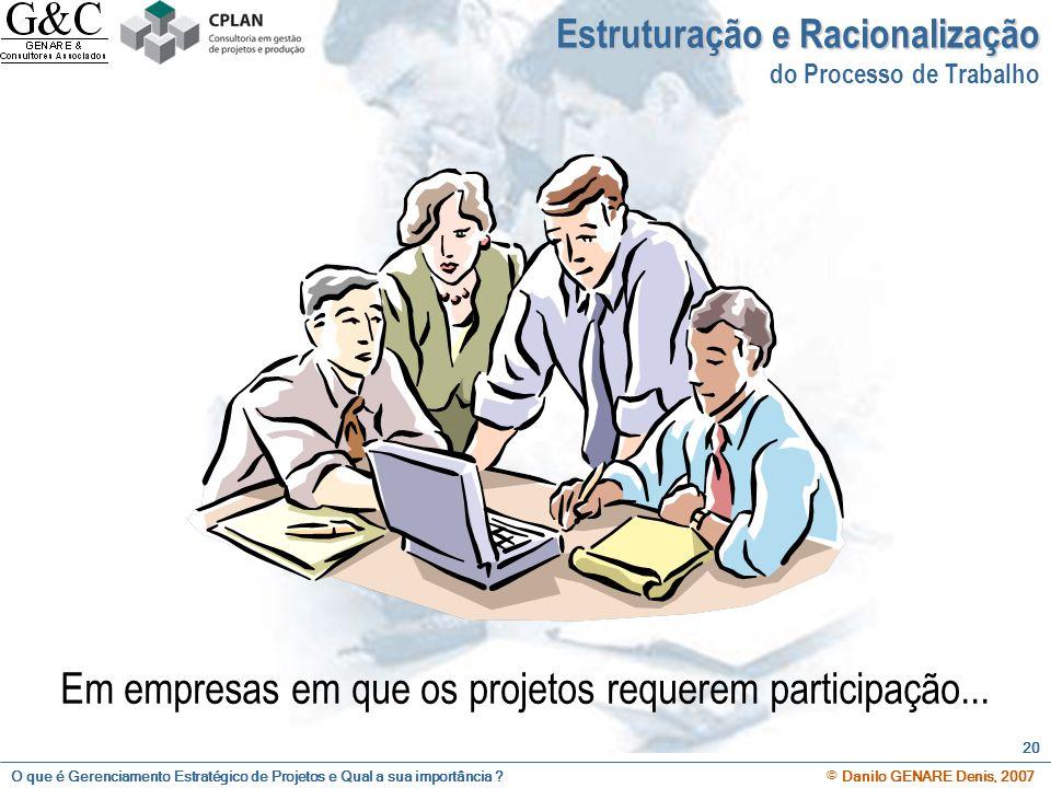 Em empresas em que os projetos requerem participação...