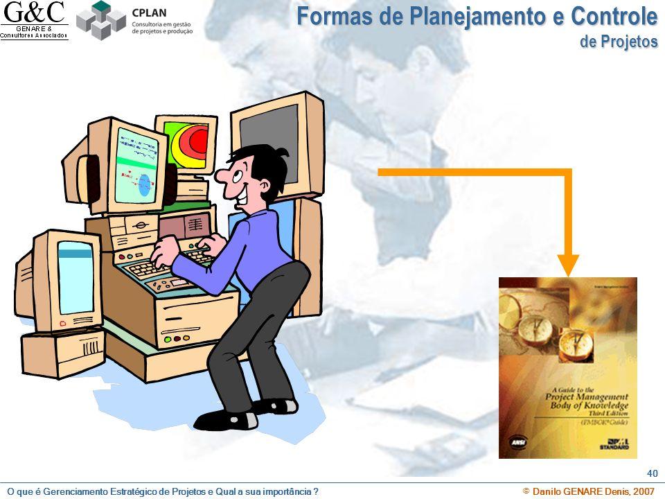 Formas de Planejamento e Controle