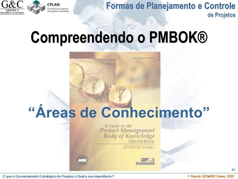 Compreendendo o PMBOK® Áreas de Conhecimento