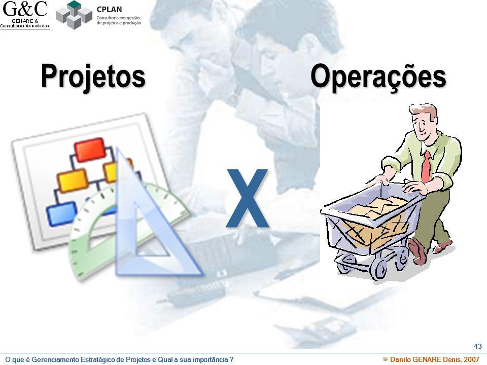 Projetos Operações X