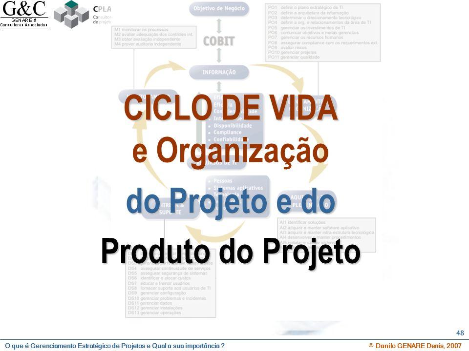 CICLO DE VIDA e Organização