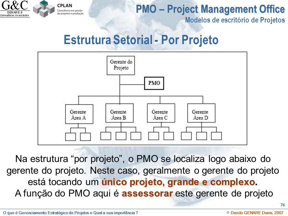 Estrutura Setorial - Por Projeto