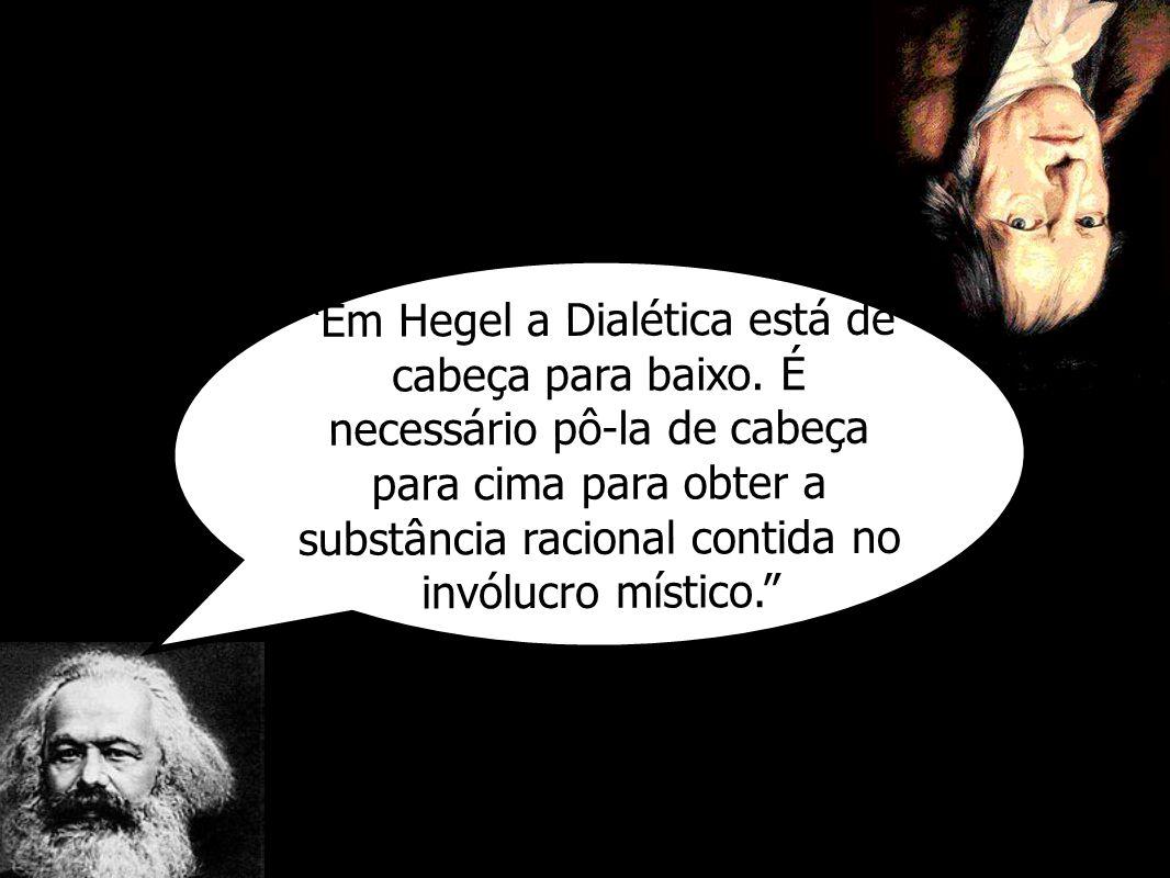 Em Hegel a Dialética está de cabeça para baixo