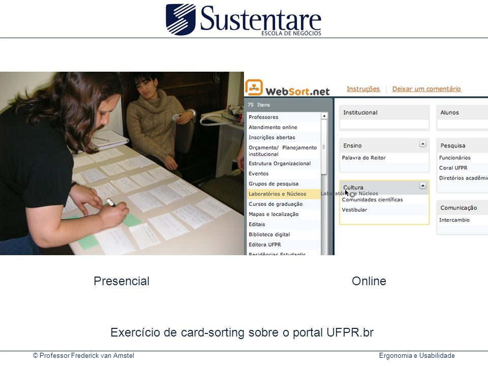 Exercício de card-sorting sobre o portal UFPR.br