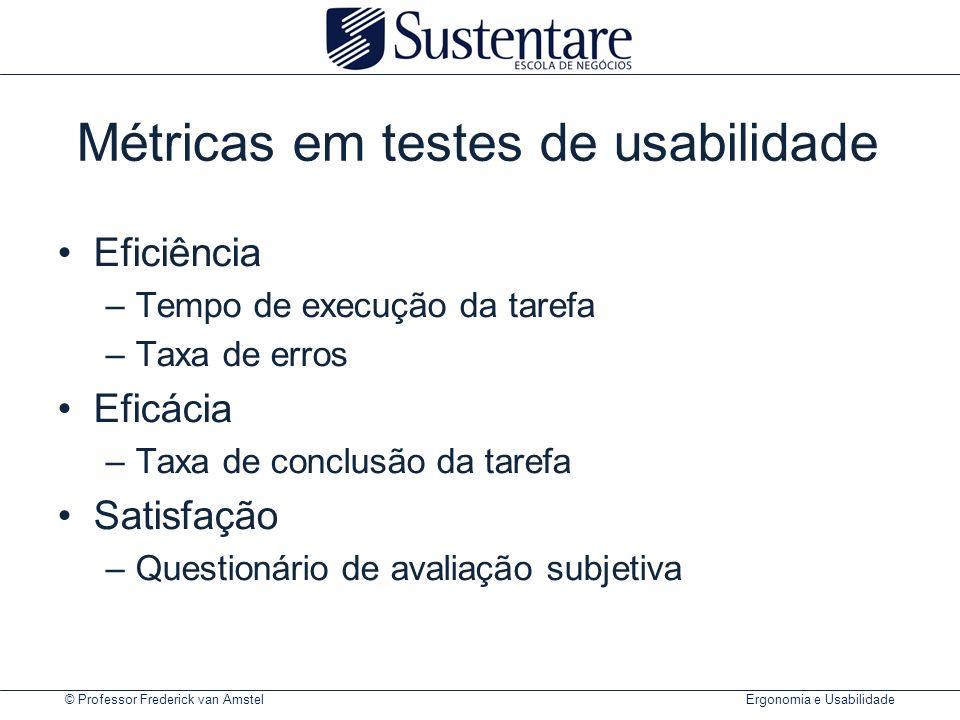 Métricas em testes de usabilidade