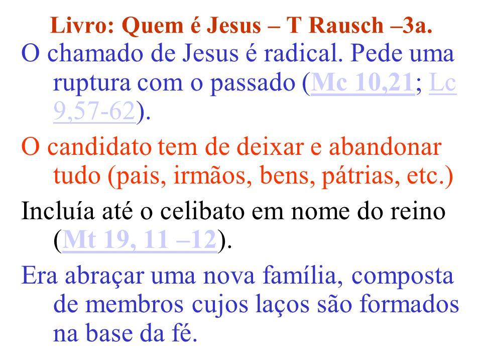 Livro: Quem é Jesus – T Rausch –3a.