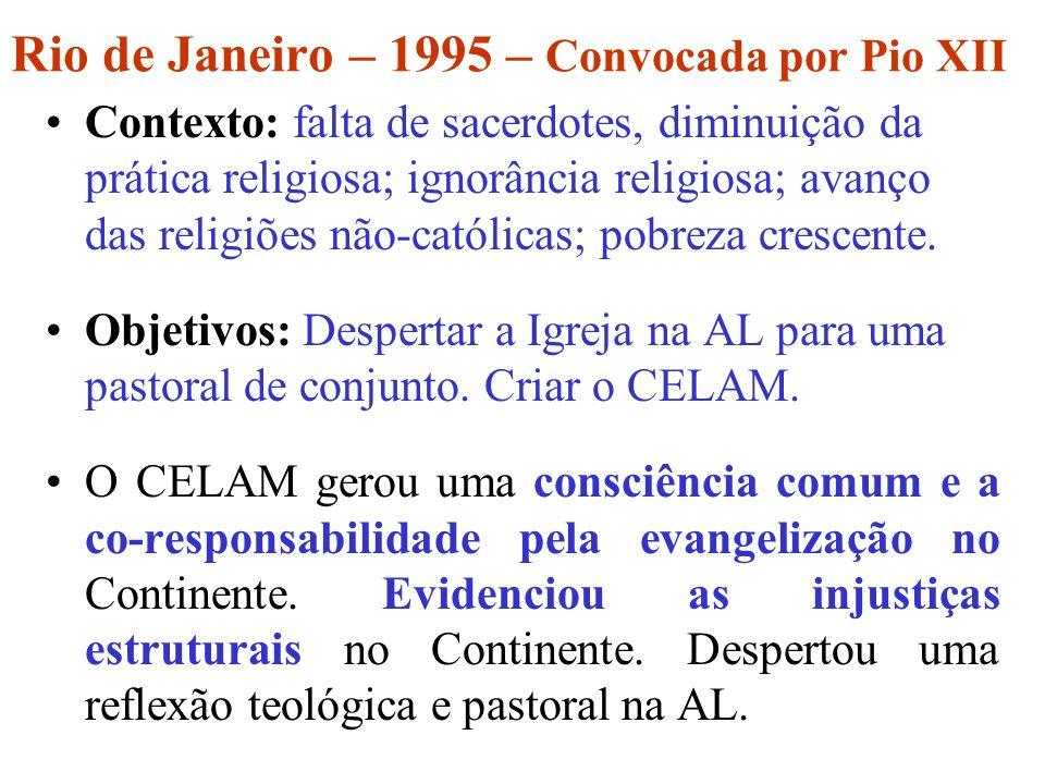 Rio de Janeiro – 1995 – Convocada por Pio XII