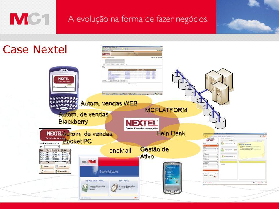 Case Nextel Autom. vendas WEB MCPLATFORM Autom. de vendas Blackberry