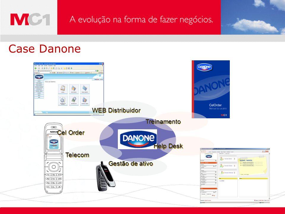 Case Danone WEB Distribuidor Treinamento Cel Order Help Desk Telecom