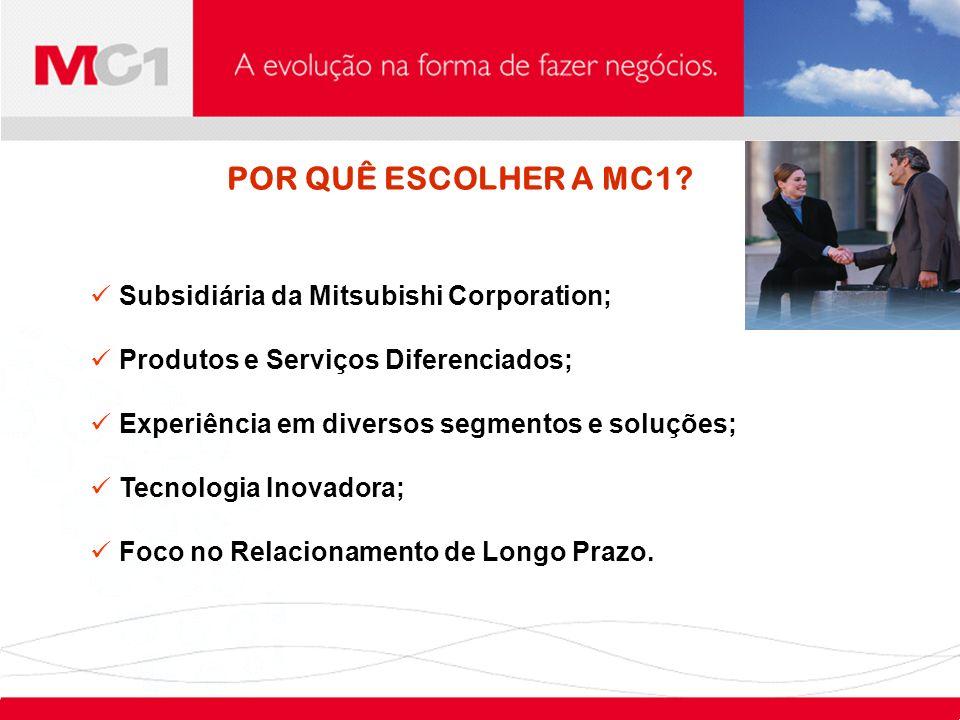 POR QUÊ ESCOLHER A MC1 Subsidiária da Mitsubishi Corporation;
