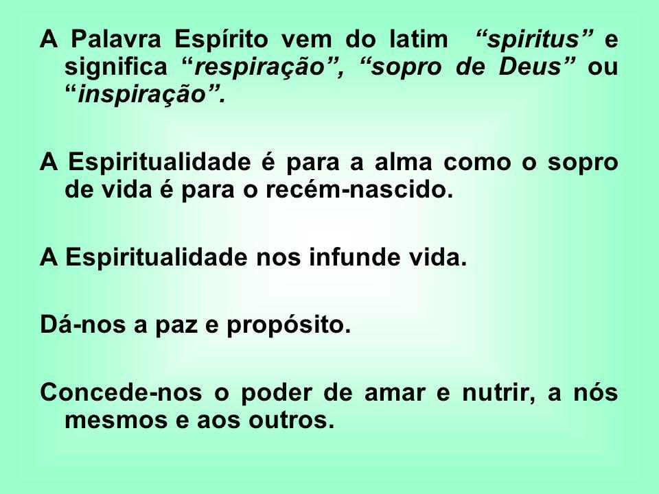 A Palavra Espírito vem do latim spiritus e significa respiração , sopro de Deus ou inspiração .