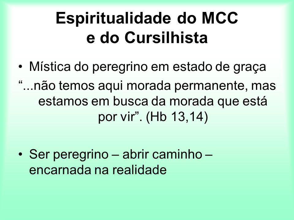 Espiritualidade do MCC e do Cursilhista