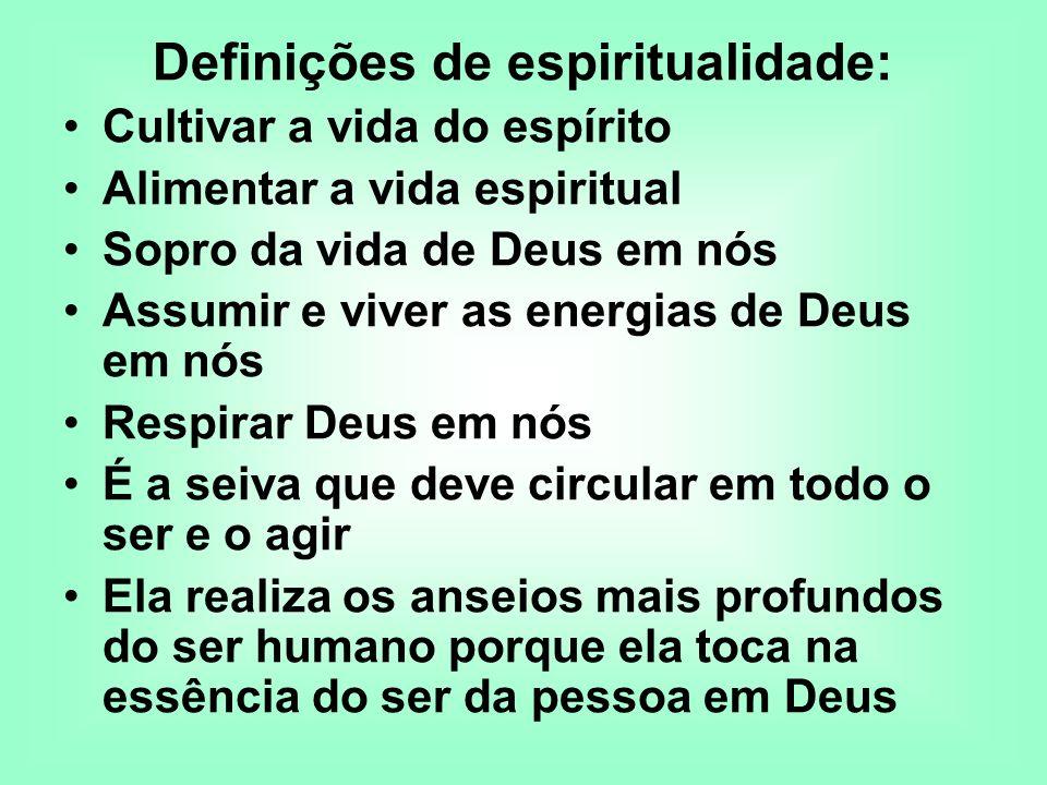 Definições de espiritualidade: