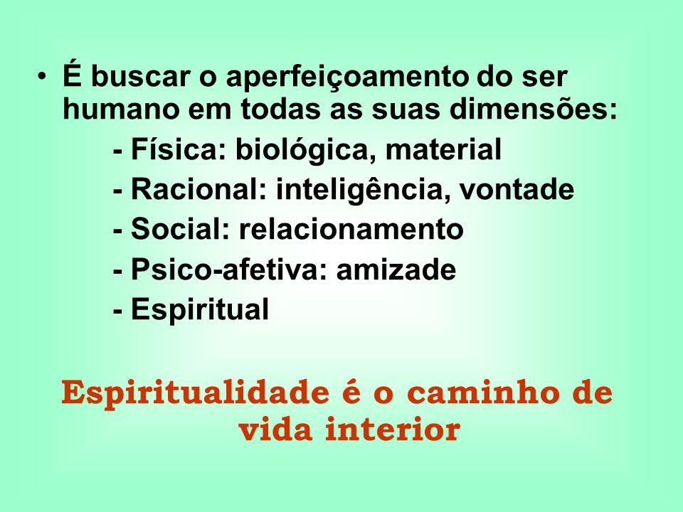 Espiritualidade é o caminho de vida interior