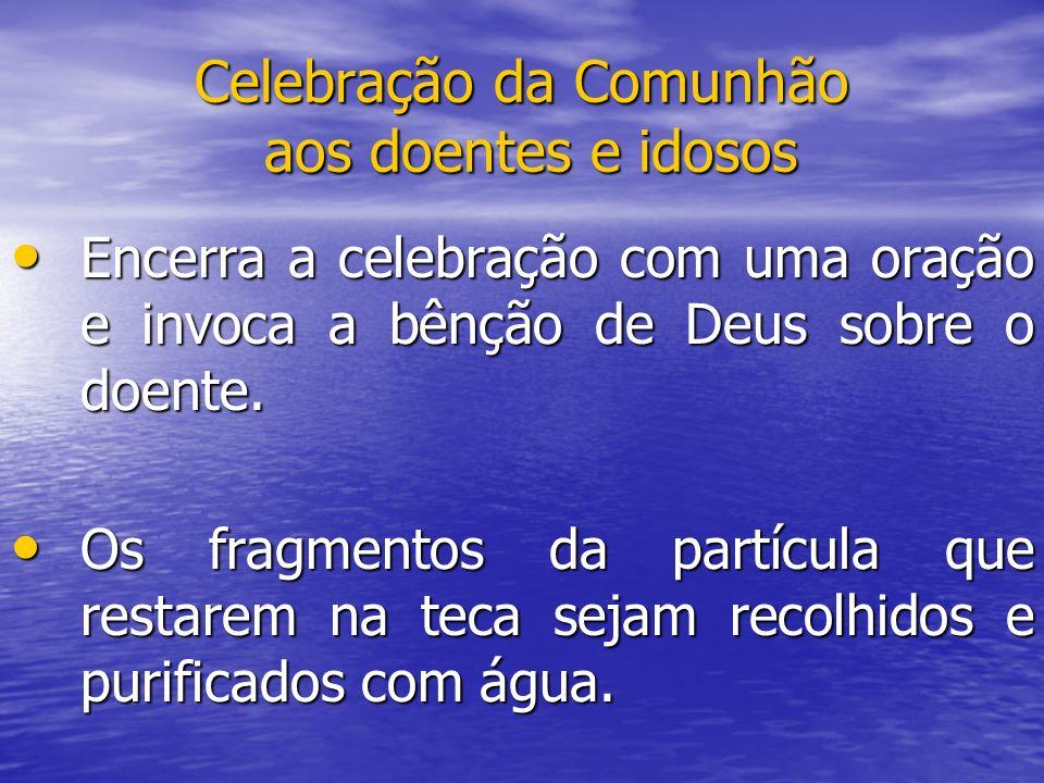 Celebração da Comunhão aos doentes e idosos