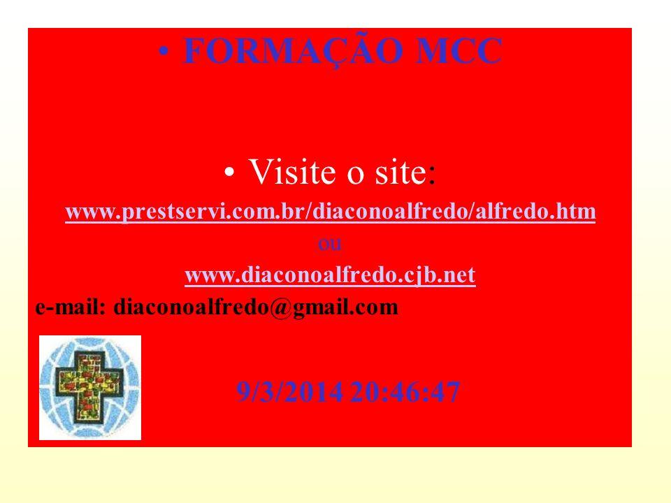 FORMAÇÃO MCC Visite o site: 26/03/2017 02:34:22