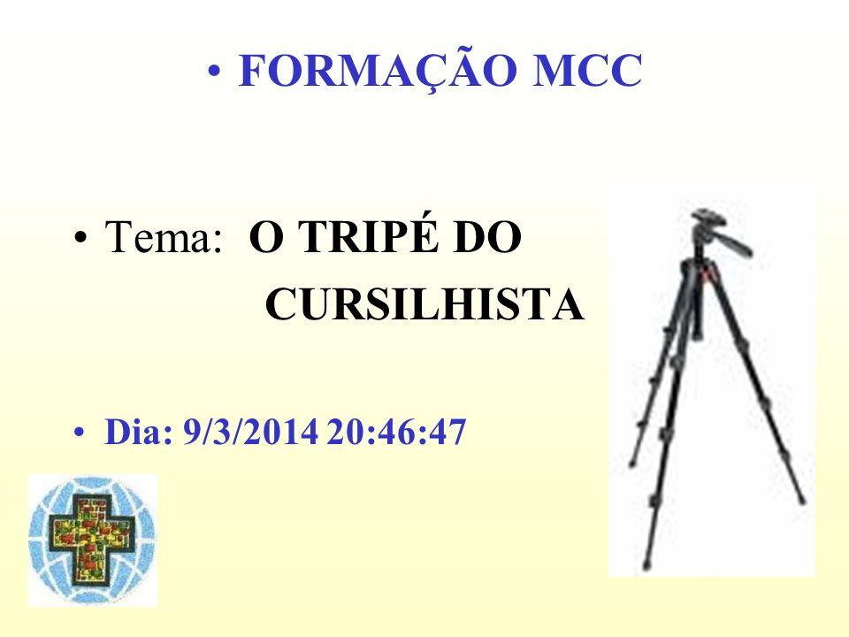 FORMAÇÃO MCC CURSILHISTA