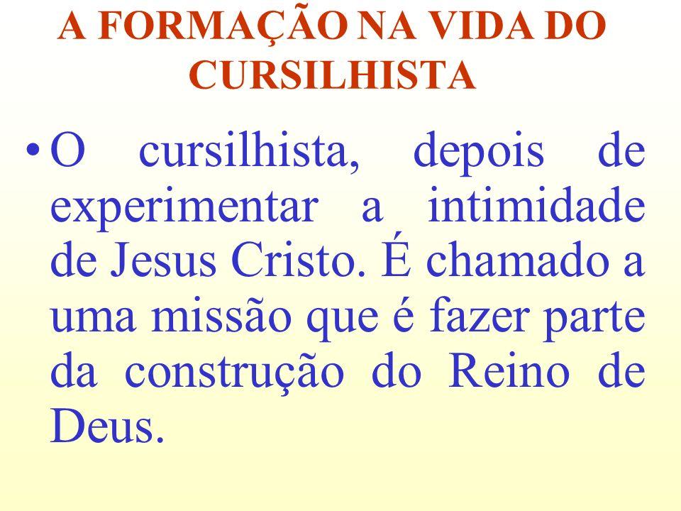 A FORMAÇÃO NA VIDA DO CURSILHISTA