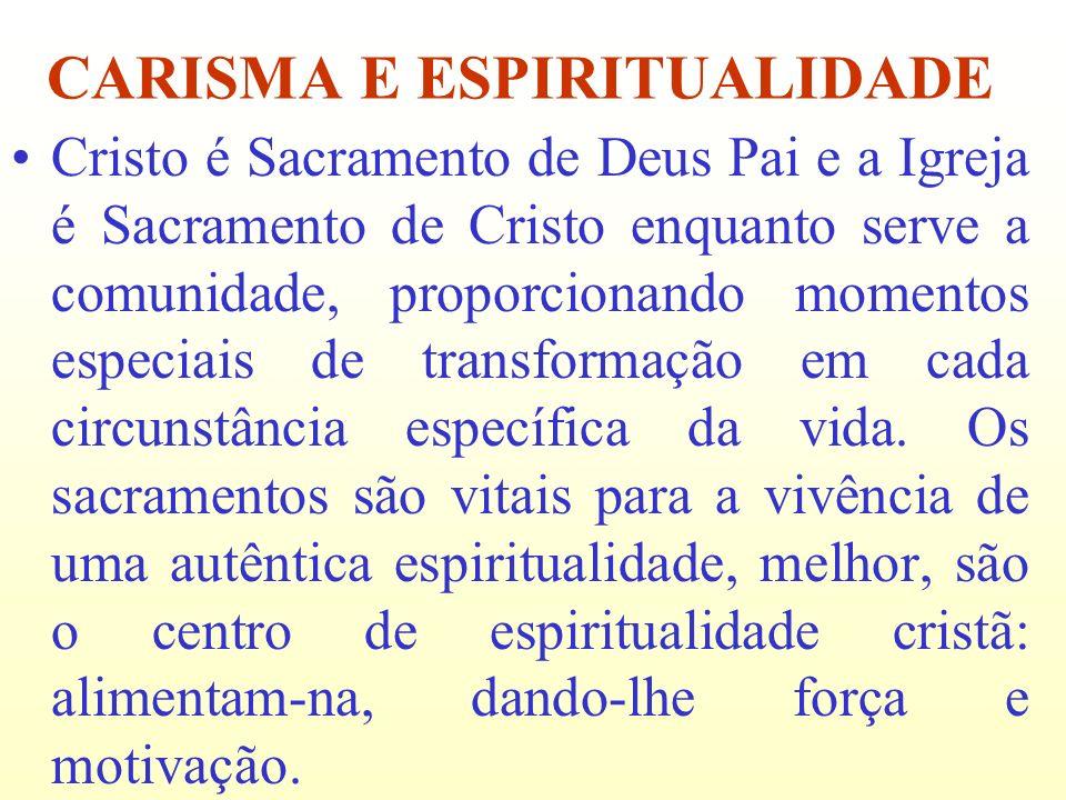 CARISMA E ESPIRITUALIDADE
