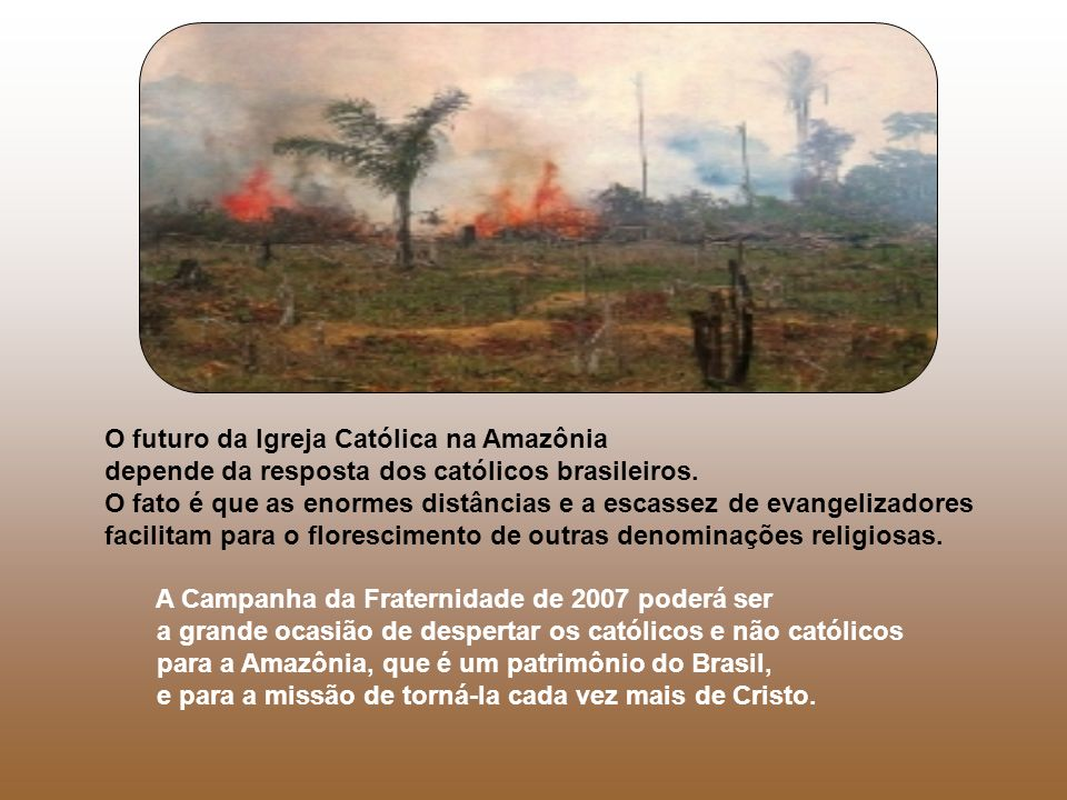 O futuro da Igreja Católica na Amazônia