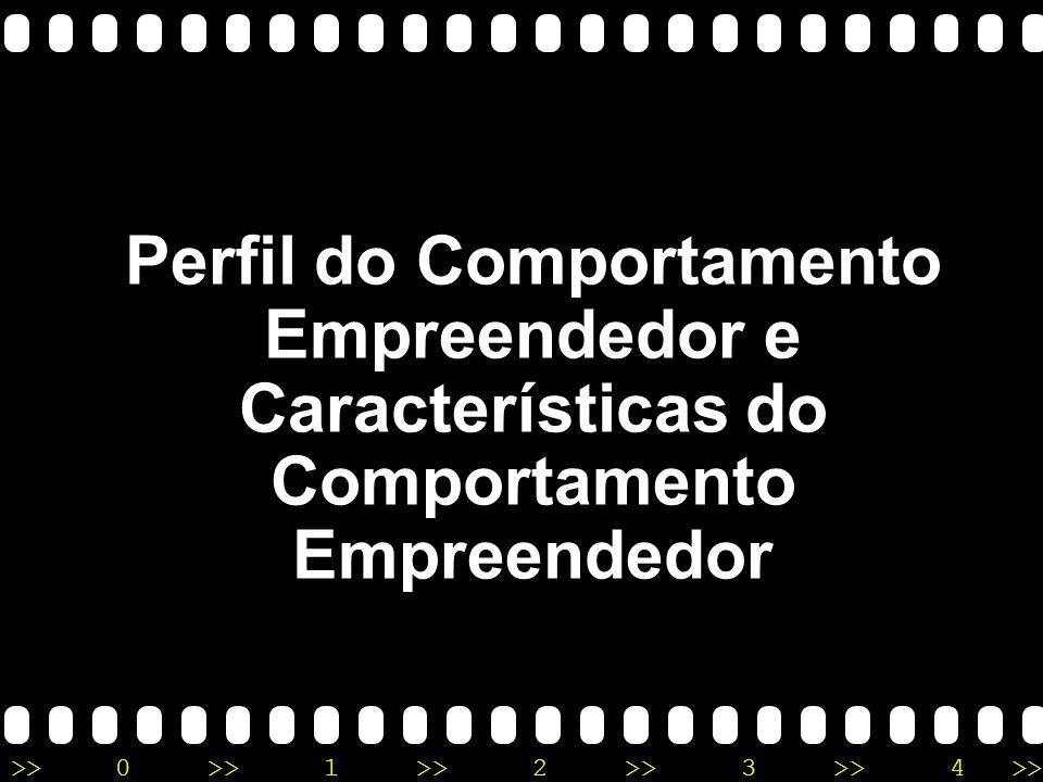 Perfil do Comportamento Empreendedor e Características do Comportamento Empreendedor